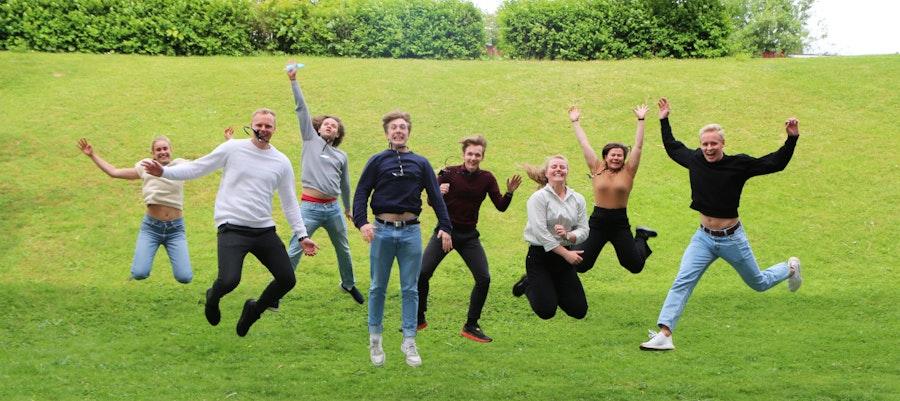Summer Interns jumping 2